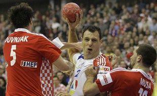 Jérôme Fernandez face à la Croatie, le 24 janvier 2012