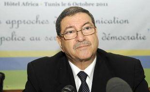 Habib Essid, ancien ministre tunisien de l'Intérieur, le 6 octobre 2011 à Tunis.