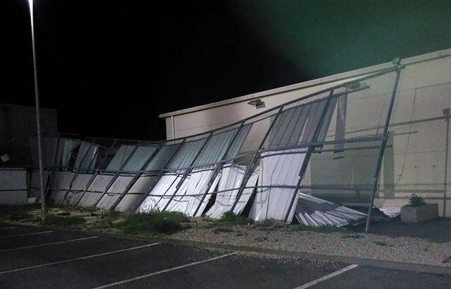 Des palissades et des toitures ont été détériorées