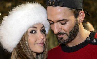 Nabilla Benattia et Thomas Vergara en décembre 2015 à Lausanne (Suisse).
