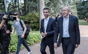Gérard Collomb et Yann Cucherat, prêt à reconquérir la mairie de Lyon.