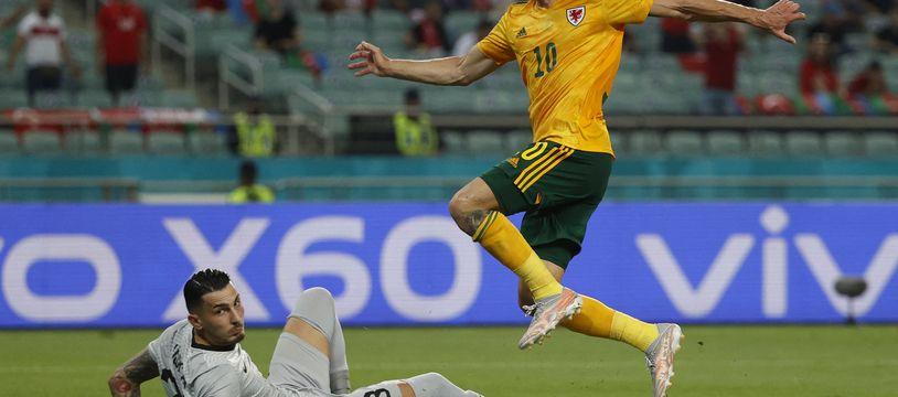 Ramsey ouvre le score pour le Pays-de-Galles contre la Turquie.