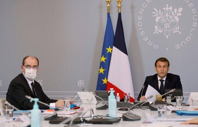 Emmanuel Macron et Jean Castex, à l'Elysée le 17 novembre 2020.