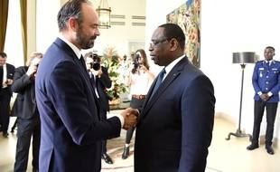 Edouard Philippe et le président sénégalais Macky Sall, à Dakar, le 17 novembre 2019.