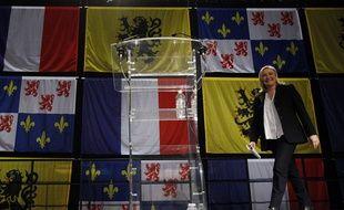 Marine Le Pen à Hénin-Beaumont au soir du premier tour des élections régionales, le 6 décembre 2015.