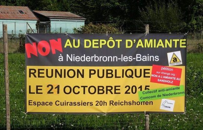 Le projet d'enfouissement d'amiante sur la commune de Niederbronn-les-Bains ne fait pas que des heureux notamment dans les villages limitrophes de Reichshoffen et d'Oberbronn.