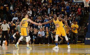 Les Golden State Warriors de Stephen Curry, le 30 mars 2016.