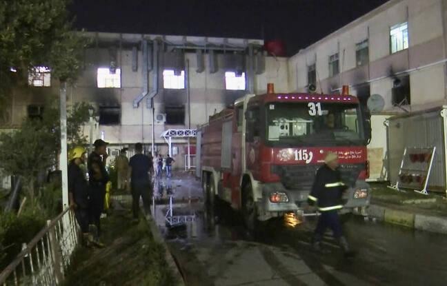 648x415 intervention des pompiers a l hopital ibn al khatib a bagdad le 24 avril 2021
