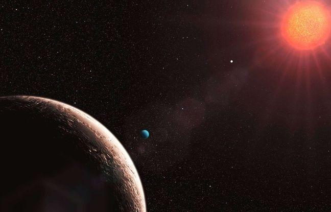 Illustration d'une nouvelle planète découverte en 2009.
