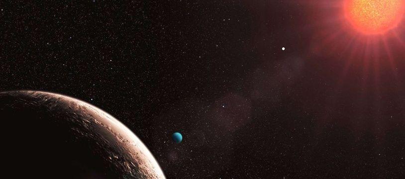 Les caractéristiques de cette planète surprennent les astronomes. (illustration)