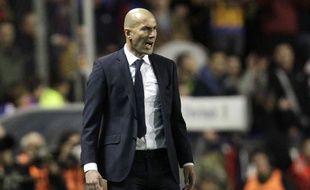 Zinédine Zidane lors du match entre Valence et le Real Madrid le 2 mars 2016.