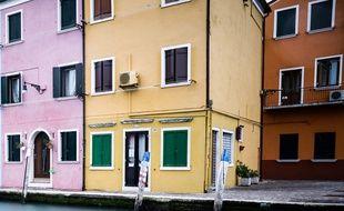illustration de maisons colores en italie