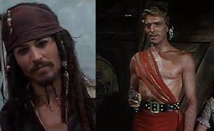 Capture d'écran de «Pirate des Caraïbes» à gauche, «Le Corsaire rouge» à droite.