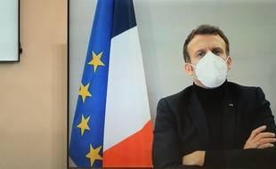 Emmanuel Macron en décembre 2020.