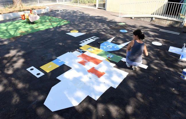 Un jeu réalisé par l'artiste Marie Findeling dans une école de Montpellier.