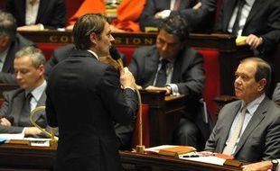Le ministre de l'Economie, François Baroin, lors des questions au gouvernement, le 8 novembre 2011, à l'Assemblée nationale, à Paris.