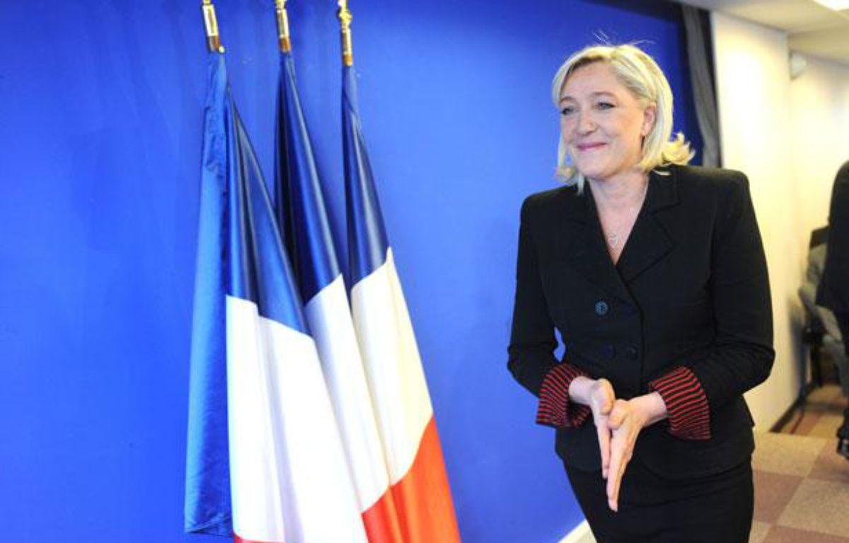 Marine Le Pen à Nanterre, le 5 janvier 2012. – CHAMUSSY/SIPA
