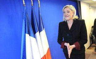Marine Le Pen à Nanterre, le 5 janvier 2012.