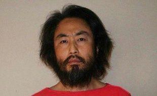Une photo prise dans un lieu inconnu de Junpei Yasuda, un journaliste freelance japonais enlevé, diffusée le 30 mai 2016