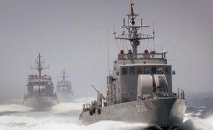 Photo non datée de navires de guerre de la Corée du Sud.