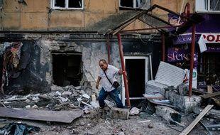 Des tirs d'artillerie ont eu lieu ce 20 août dans la ville de Donetsk, en Ukraine.