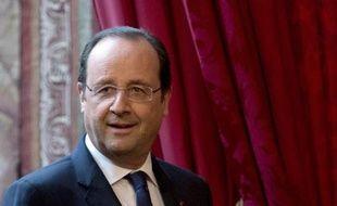 François Hollande au palais de l'Elysée le 29 avril 2014