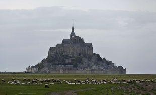 Illustration du Mont Saint-Michel le 8 mai 2018.