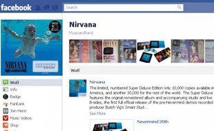 Page Facebook de Nirvana