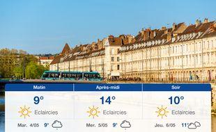 Météo Besançon: Prévisions du lundi 3 mai 2021