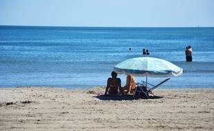 A la plage, à Carnon.