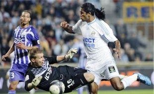 Olivier Blondel a réussi un double arrêt parfait dans les arrêts de jeu, devant Brandao.