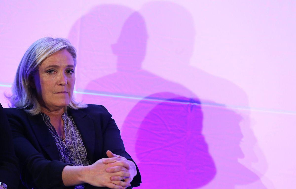 Marine Le Pen à Arpajon (Essonne), le 14 septembre 2015, lors du lancement de la campagne du FN pour les régionales en Ile-de-France. – Alain ROBERT/Apercu/SIPA