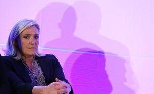 Marine Le Pen à Arpajon (Essonne), le 14 septembre 2015, lors du lancement de la campagne du FN pour les régionales en Ile-de-France.