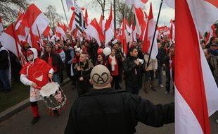 Manifestation contre la fusion de l'Alsace avec la Lorraine et la Champagne-Ardenne, le 13 décembre 2014, à Strasbourg.