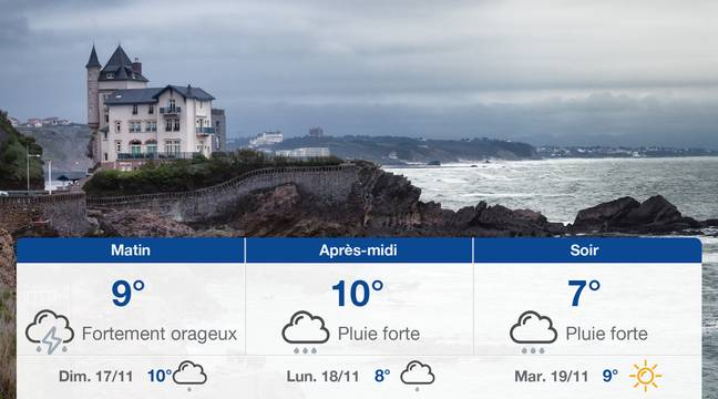 Météo Biarritz: Prévisions du samedi 16 novembre 2019 - 20minutes.fr