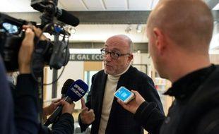 L'avocat de Karim Benzema, Alain Jakubowicz, face aux journalistes le 13 novembre 2015 à Lyon