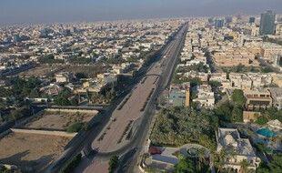 Vue aérienne de la ville de Djeddah, en Arabie Saoudite.