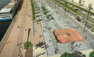 Le nouveau skatepark quai des Chartrons devrait voir le jour début 2022.