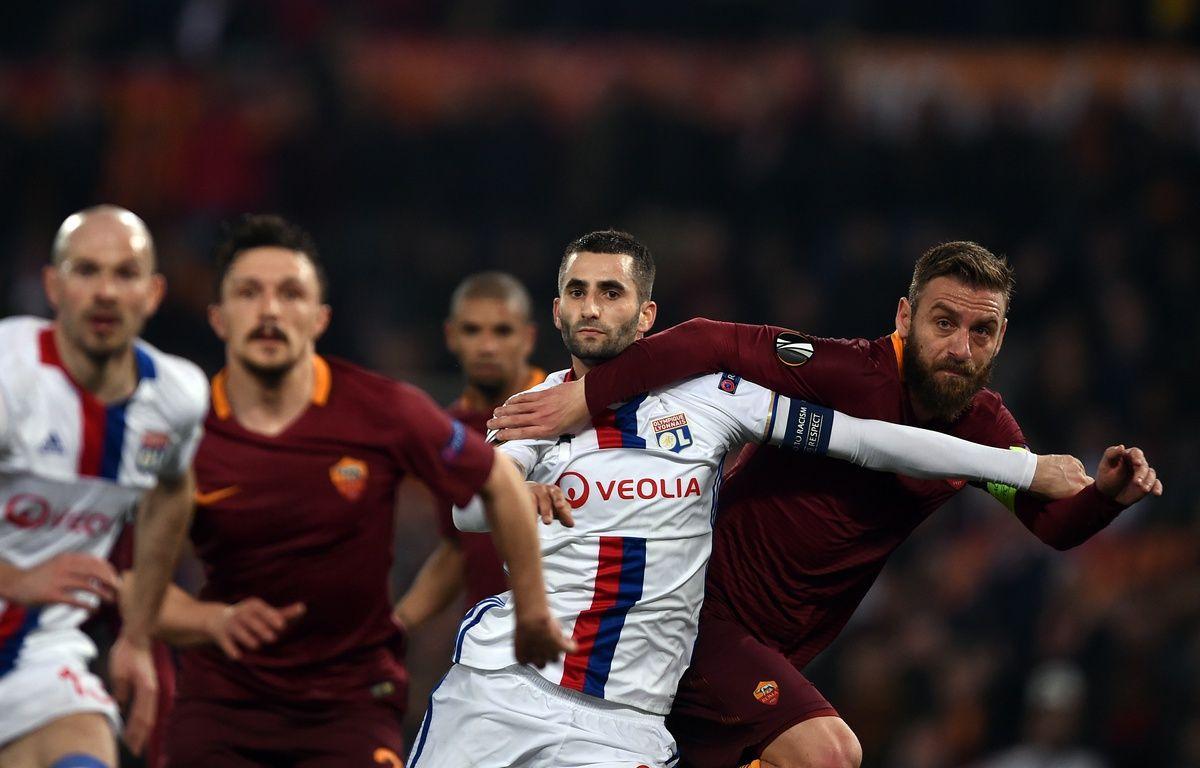 Maxime Gonalons et les Lyonnais ont dû batailler pour se qualifier au bout du suspense. – FILIPPO MONTEFORTE / AFP