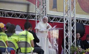 Le pape François lors de son discours aux Journées mondiales de la Jeunesse, le 27 janvier 2019, au Panama.