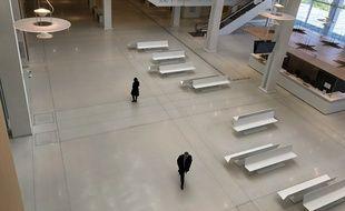 Paris, le 15 avril 2020. Le palais de justice de Paris est désert depuis la mise en place du confinement.