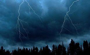 Illustration: Un ciel orageux.