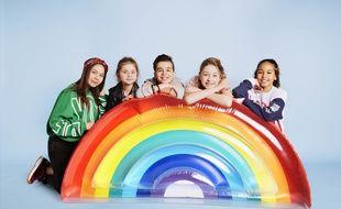 Les Kids United nouvelle génération. De gauche à droite: Ilyana, Valentina, Nathan, Gloria et Dylan.
