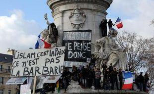 Rassemblement contre le terrorisme place de la République le 11 janvier 2015