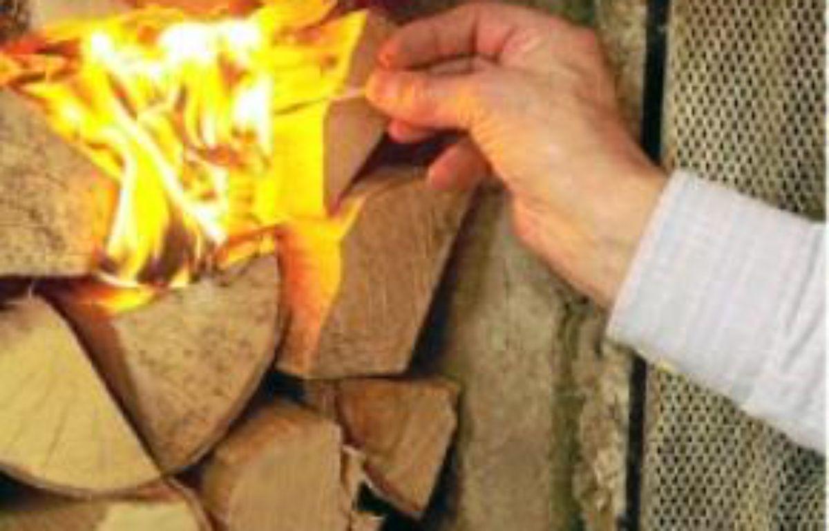 Le feu de bois rejette des particules. –  SAKKI/LEHTIKUVA OY/SIPA