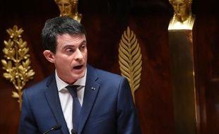 Le Premier ministre Manuel Valls à l'Assemblée nationale à Paris le 5 février 2016