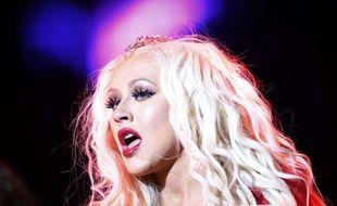 Christina Aguilera lors d'un concert au festival Mawazine au Maroc le 28 mai 2016