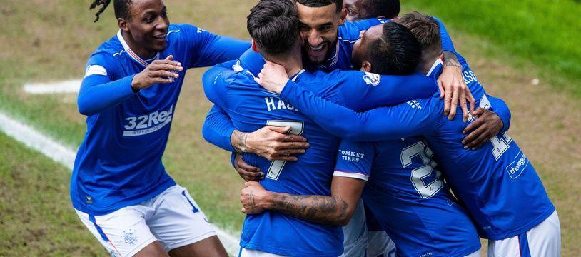Les Rangers ont battu  St Mirren pour s'offrir le titre de champion d'Ecosse, le 6 mars 2021.