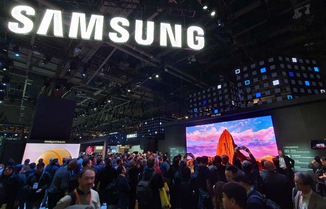 Avec ses 7,4 mètres de diagonale, The Wall de Samsung, clou du CES 2020.