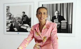 La PDG de l'INA, Agnès Saal, le 31 juillet 2014 au siège de l'INA, à Bry-sur-Marne